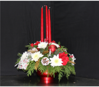 Christmas Elegance Centerpiece in Ogdensburg NY, Basta's Flower Shop