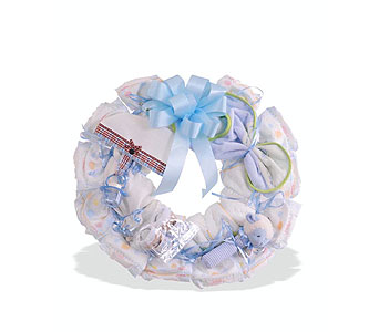 Baby Boy Wreath in St. Louis MO, Walter Knoll Florist