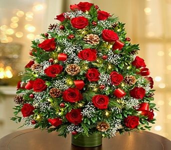 Holiday Flower Tree  Luxury in Round Rock TX, Heart & Home Flowers