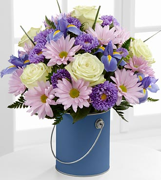 The Color Your Day With Tranquility� Bouquet in Chicago IL, Yera's Lake View Florist