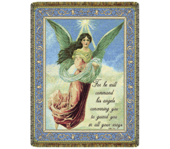 Psalm 91:11 Tapestry Throw in Johnstown PA, Schrader's Florist & Greenhouse, Inc