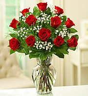 DOZEN ROSES IN ILLUSION VASE in Orange City FL, Orange City Florist