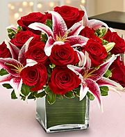 RED ROSE AND LILY  in Orange City FL, Orange City Florist
