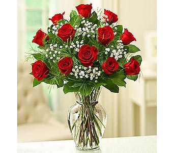 12 Premium Long Stem Roses - Red in Palm Desert CA, Milan's Flowers & Gifts