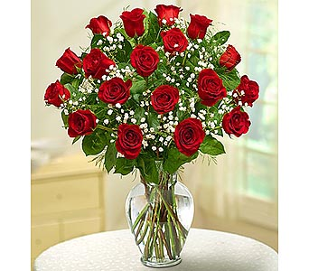 18 Premium Long Stem Roses - Red in Palm Desert CA, Milan's Flowers & Gifts