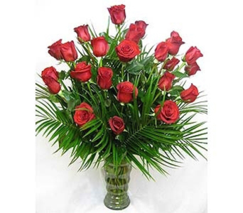 2 Dozen Roses in McKinney TX, Edwards Floral Design