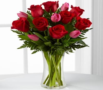 LOVE ROSES AND TULIPS BOUQUET in Vienna VA, Vienna Florist & Gifts