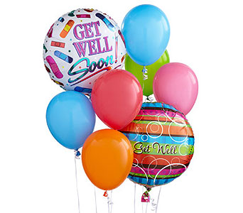 Get Well Soon Balloon Bouquet in Jersey City NJ, Hudson Florist