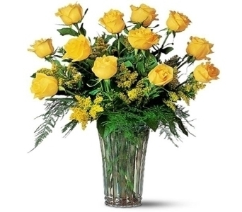 1 Dozen Yellow Roses in Little Rock AR, Tipton & Hurst, Inc.