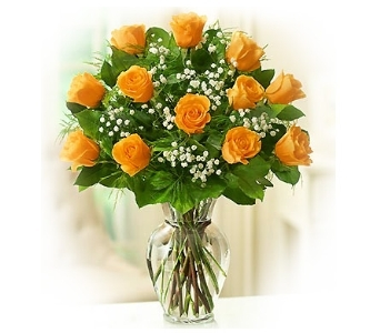 Elegance (Orange) Long Stem Roses in Bradenton FL, Bradenton Flower Shop