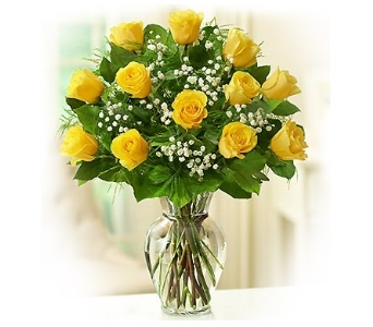 Elegance (Yellow) Long Stem Roses in Bradenton FL, Bradenton Flower Shop