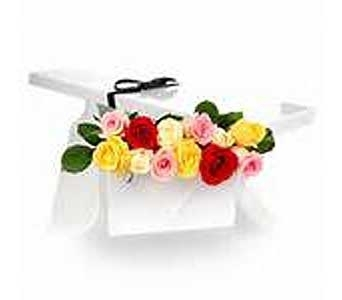 Dozen Assorted Roses in Brooklin ON, Brooklin Floral & Garden Shoppe Inc.