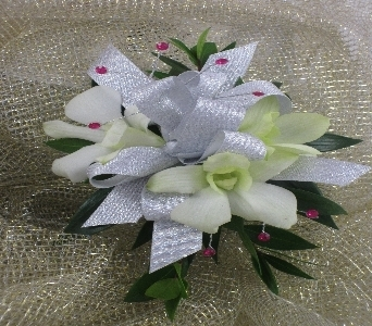 Orchid Wrist Corsage in Raleigh NC, North Raleigh Florist