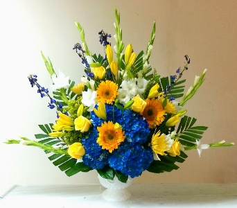 BLUE AND GOLD TRIBUTE in Arlington VA, Twin Towers Florist