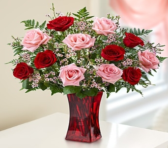 Valentines day flowers delivery colorado springs co nonis shades of pink and red in colorado springs co nonis flowers gifts mightylinksfo