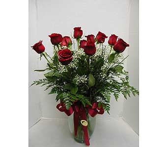 1 Dozen Long Reds in Redding CA, Redding Florist