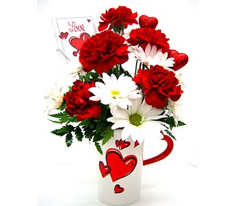 "VF121  ""Cup of Love"" Bouquet in Oklahoma City OK, Array of Flowers & Gifts"