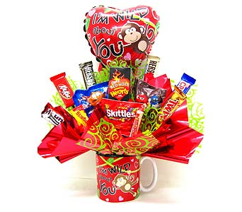 CB295  �Wild About You� Candy Bouquet in Oklahoma City OK, Array of Flowers & Gifts