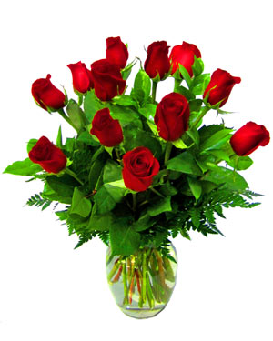One dozen classic red roses. in Las Vegas NV, A French Bouquet