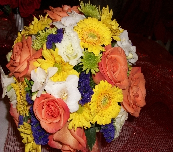 bridesmaids bouquet in Canonsburg PA, Malone's Flower Shop
