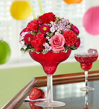 Strawberry Floral Margarita in Camp Hill and Harrisburg PA, Pealers Flowers