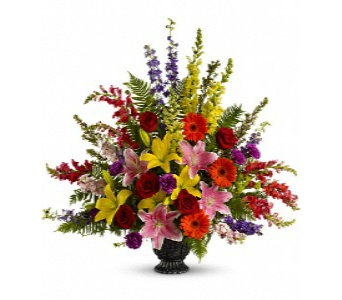 Walk in the Rainbow Bouquet in Columbus OH, OSUFLOWERS .COM
