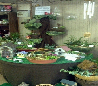 Fairy Garden Display in Crown Point IN, Debbie's Designs