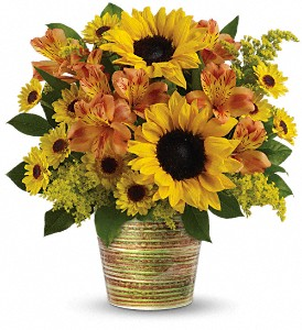 Teleflora's Grand Sunshine Bouquet in The Woodlands TX, Rainforest Flowers