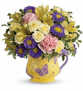 Teleflora's Sunbeams And Butterflies Bouquet in Pawnee OK, Wildflowers & Stuff
