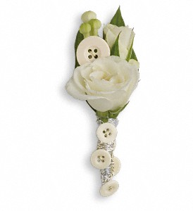 All Buttoned Up Boutonniere in Rochester NY, Red Rose Florist & Gift Shop