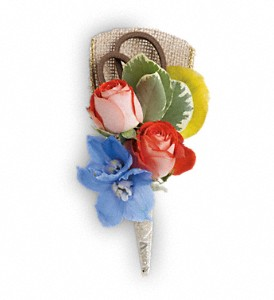 Barefoot Blooms Boutonniere in Naples FL, China Rose Florist
