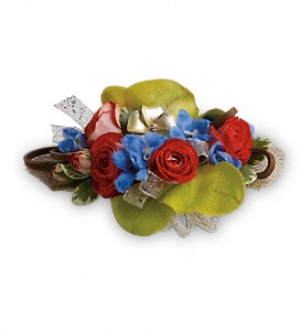 Barefoot Blooms Corsage in Dayville CT, The Sunshine Shop, Inc.