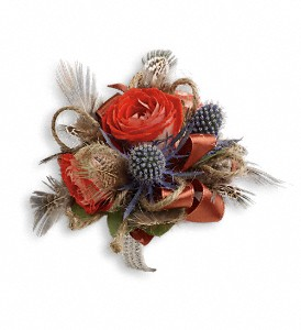 Boho Dreams Corsage in Hilton NY, Justice Flower Shop