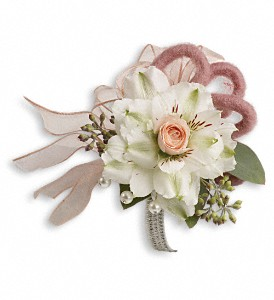 Call Me Darling Corsage in Oak Harbor OH, Wistinghausen Florist & Ghse.