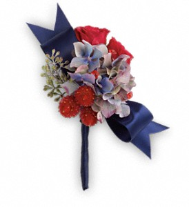 Camera Ready Boutonniere in Rochester NY, Red Rose Florist & Gift Shop
