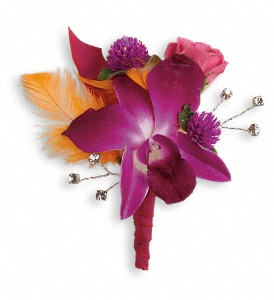Dance 'til Dawn Boutonniere in Hilton NY, Justice Flower Shop