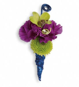 Evening Electric Boutonniere in Weslaco TX, Alegro Flower & Gift Shop