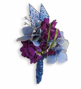 Feel The Beat Boutonniere in Manchester NH, Celeste's Flower Barn