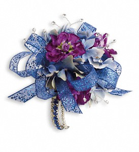 Feel The Beat Corsage in Patchogue NY, Mayer's Flower Cottage