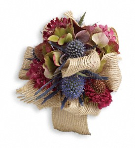 Midnight Wanderings Corsage in Modesto CA, The Country Shelf Floral & Gifts