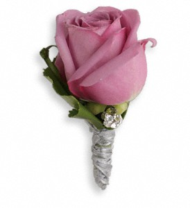 Roses And Ribbons Boutonniere in Newmarket ON, Blooming Wellies Flower Boutique