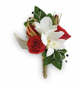 Star Studded Boutonniere in Naples FL, China Rose Florist
