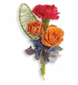 You Glow Boutonniere in Grand Rapids MI, Rose Bowl Floral & Gifts