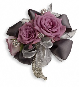 Roses And Ribbons Corsage in Modesto CA, The Country Shelf Floral & Gifts