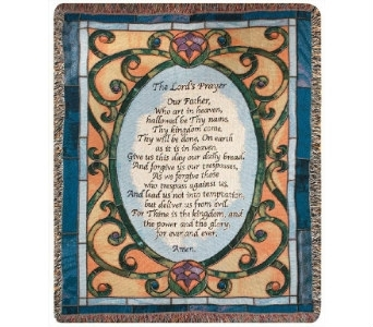 The Lord's Prayer /Stained Glass Window Afghan in Dayton OH, Furst The Florist & Greenhouses