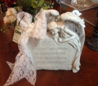 Angel Statue Tears in Ambridge PA, Heritage Floral Shoppe