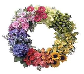 The Elegant Mixed Sympathy Wreath in Merrick NY, Feldis Florists