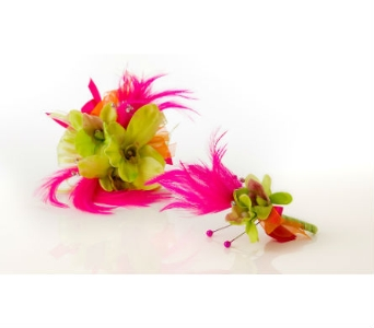 Lime Green & Hot Pink in Orinda CA, Misaghi Design Orinda Florist