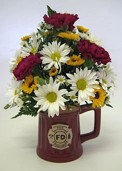 FIRE DEPARTMENT MUG in Salisbury MD, Kitty's Flowers