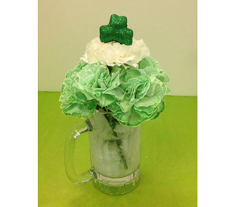 T & C St Patrick's Day Mug in Manhasset NY, Town & Country Flowers